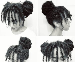 natural hair, locs, and loc'd hair image