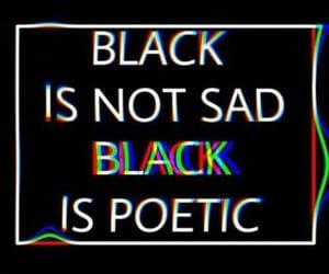 black style, black life, and black mood image
