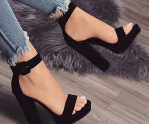 black, jeans, and shoes image