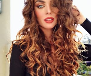 beautiful, color, and curly hair image