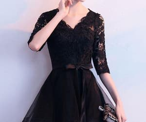homecoming dresses, black prom dresses, and lace homecoming dresses image