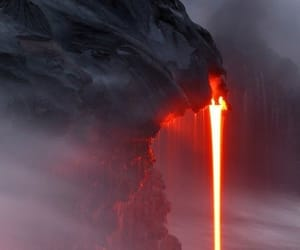 disaster, lava, and nature image