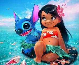 art, lilo and stich, and childhood image