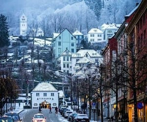 winter, norway, and bergen image