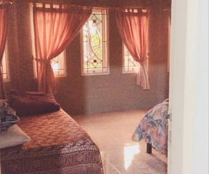 aesthetic, bedroom, and curtains image