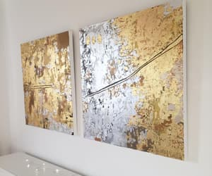 art, canvas, and gold image