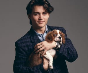 johnny depp, dog, and puppy image
