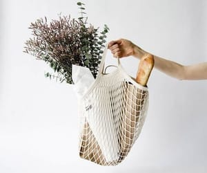 bag, flowers, and white image