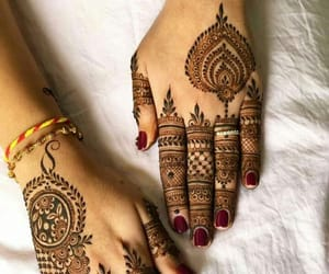 art, henna, and artistic image