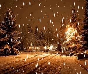 beautiful, gif, and snow image