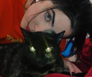 girl, jade picon, and cat image