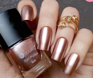 nails, gold, and rose gold image