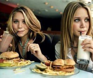 olsen, twins, and food image