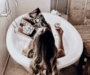 beauty, shower, and wine image