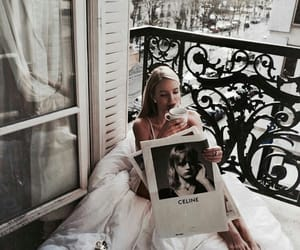 fashion, newspaper, and relax image