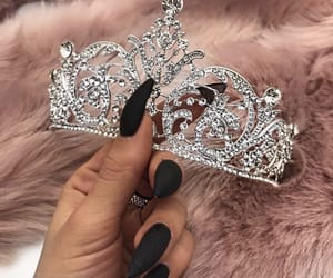 crown, nails, and pink image
