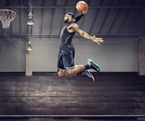 Basketball, dunk, and sport image