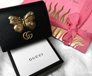 black, butterfly, and gucci image