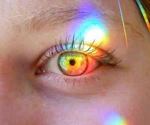 eye, rainbow, and tumblr image