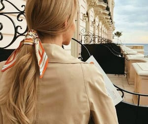 balcony, hair, and hairstyle image