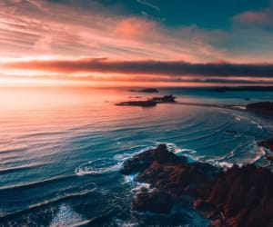 sea and sunset image