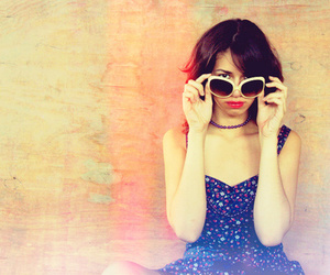 dress, glasses, and pretty image
