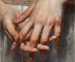 art, painting, and hand image