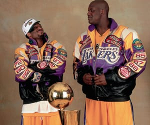 shaq, Basketball, and kobe bryant image