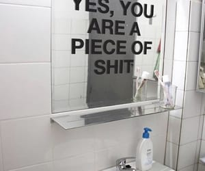 mirror, quotes, and shit image