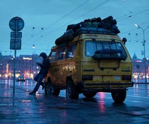 boy, city, and rain image