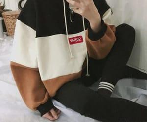 fashion, girls, and hoodie image