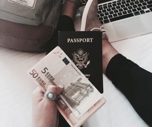 travel, passport, and money image