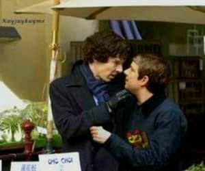 kiss, Martin Freeman, and sherlock holmes image