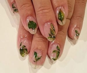 leaves, green, and nails image