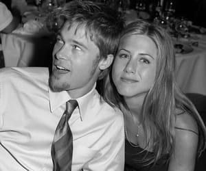 brad pitt, Jennifer Aniston, and love image