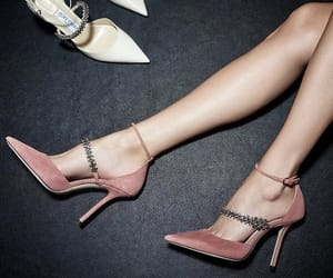 Jimmy Choo, pink, and shoes image