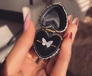 ring, butterfly, and diamond image