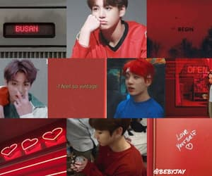 aesthetic, red, and soft image