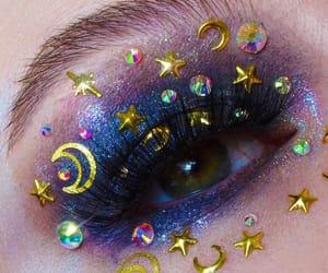 stars, eye, and eyebrows image
