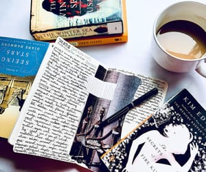 books, coffee, and journals image