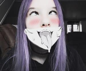 me, purplehair, and ahegao image