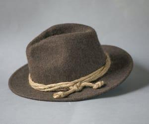 etsy, brown fedora hat, and wide brim fedora image