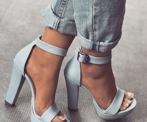 blue, heeled, and jean image