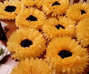 decorations, party, and sunflower image