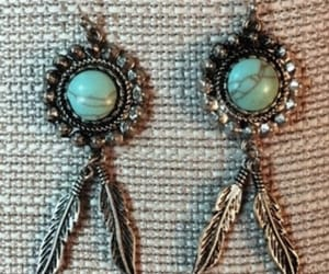 etsy, feather earrings, and vintage earrings image