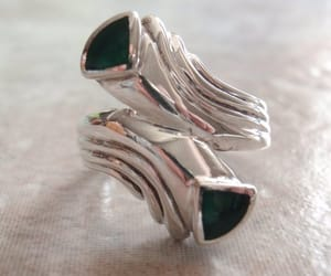 vintage ring, 925 sterling silver, and etsy image