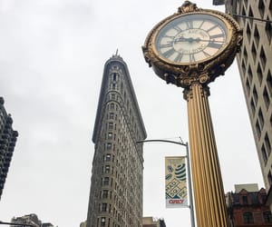 buildings, clock, and new york image