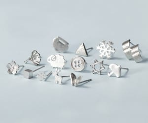 earrings, sterling silver, and jewelry image