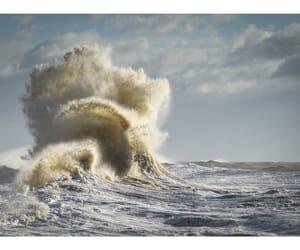 photography, seascape, and waves image