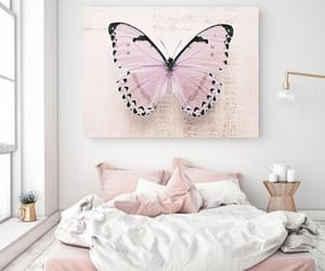 bedroom, butterfly, and blogger image